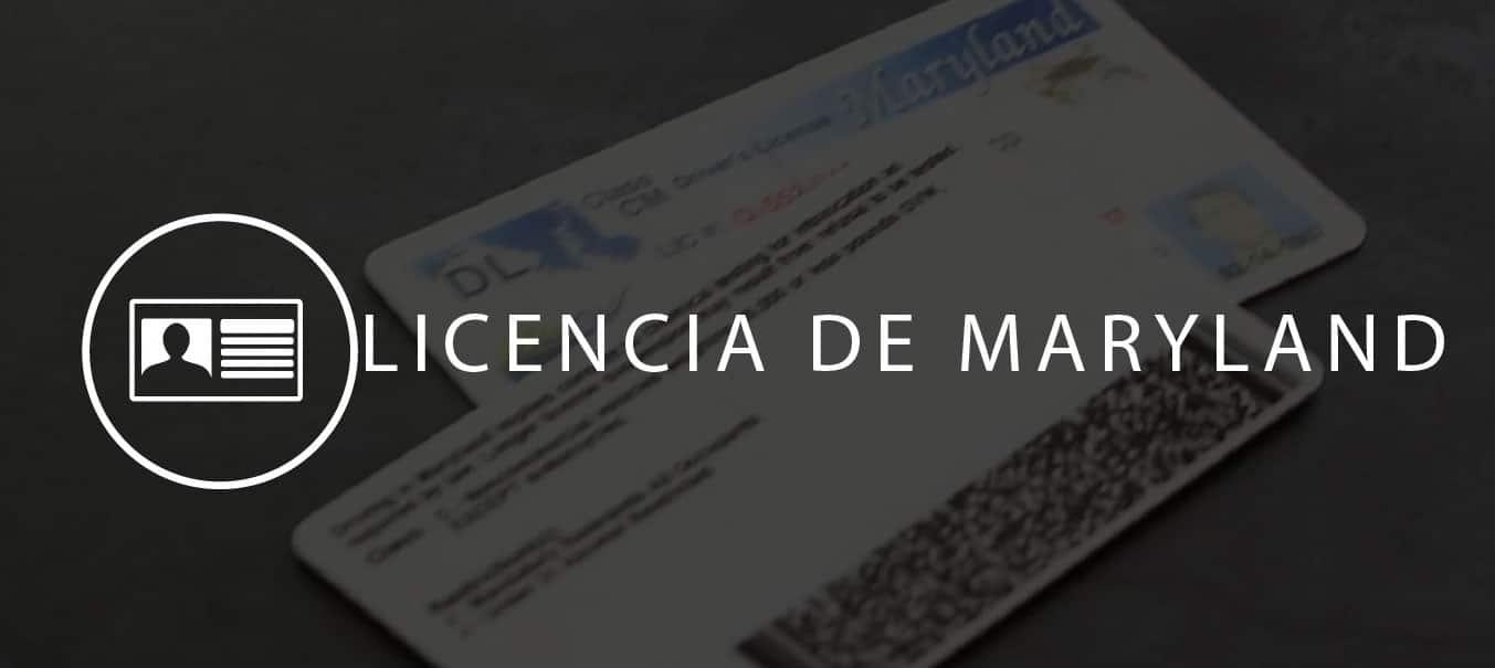 Licencia de conducir de maryland